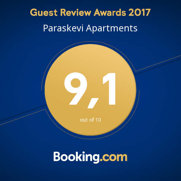 paraskevi apartments booking score